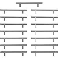 Negro 10 unidades, acero inoxidable, 108-204 mm, cuadrados, 12 x 12 mm color negro Tiradores para muebles