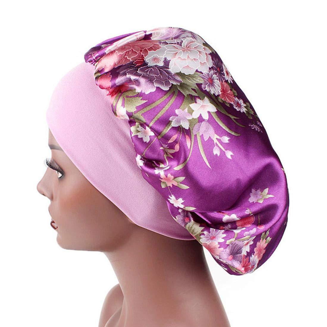 Yesmile Chapeau de Sommeil Chapeau 2018 Bonnet de Sommeil Nuit Femme en  Satin Coiffure Soin Cheveux 49b870682ff