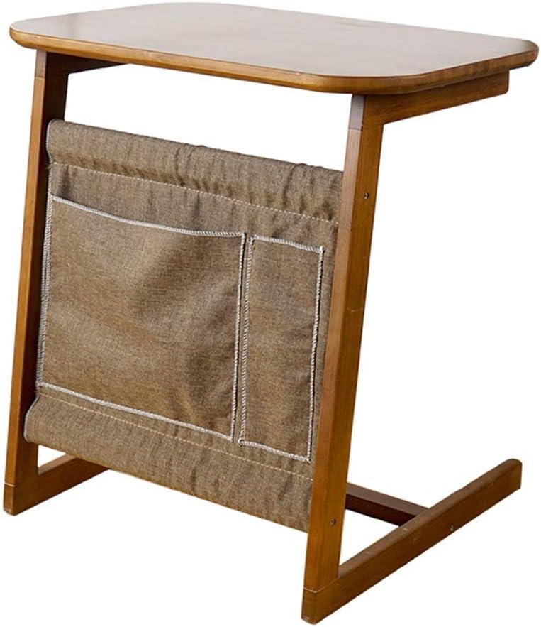 WANG テーブル ラップトップテーブル、ベッド用竹製ノートブックスタンド、傾斜、HxWxD:65 x 40 x 60 cm、ナチュラルブラウン