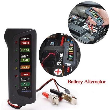 Car Repair Tools Practical 2018 New Digital 12v Car Motorcycle Battery Alternator Tester With 6 Led Lights Display Car Vehicle Battery Testing Tool Code Readers & Scan Tools