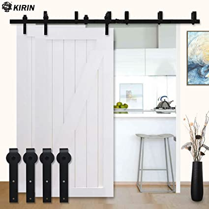 Charming Kirin Hardwares Interior Wood Door Decor Soft Close Double Doors Bypass  Barn Door Hardware 7 Foot