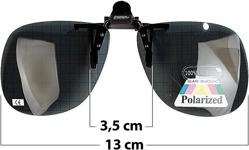 Klappsonnenbrillen: Sonnenbrillen Clip Allround für Brillenträger, polarisiert (Sonnenbrillenaufsatz für Brillen)