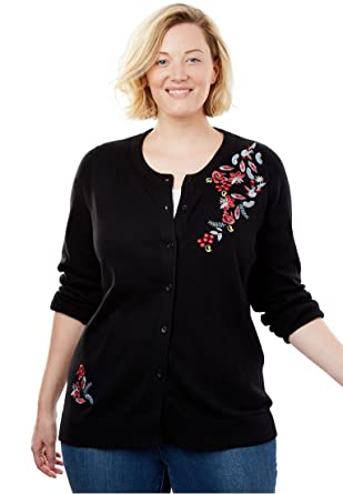 Womens Plus Size Classic Cardigan Sweater At Amazon Womens