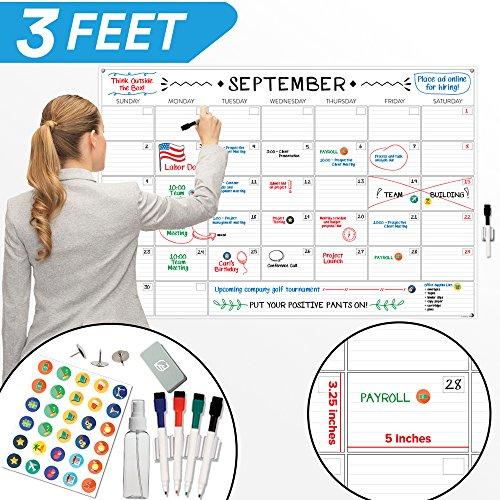 Large Dry Erase Wall Calendar - 24