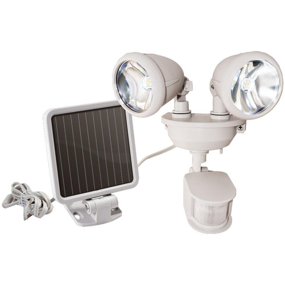 MAXSA INNOVATIONS 44218 Dual-Head Solar Spotlight (Off White) electronic consumer