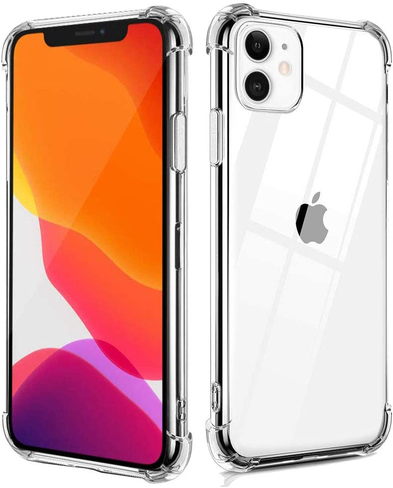 Compatible with iPhone 11 pro 5.8-Inch Case, Clear Anti-Scratch Shock Absorption Cover Case with Soft TPU Bumper [Slim Thin] Case for iPhone 11 pro 5.8 Inch (2019)-Crystal Clear