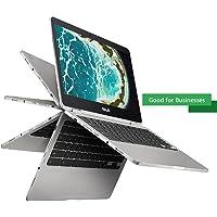Asus C302CA-AH74 Chromebook Flip 12.5-Inch Touchscreen Convertible Chromebook, Intel Core M7, 8GB RAM, 64GB Flash Storage, All-Metal Body, USB Type C, Corning Gorilla Glass, Chrome OS