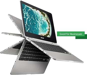 Asus Chromebook Flip C302CA-DH54 12.5-Inch Touchscreen Convertible Chromebook Intel Core M5, 4GB RAM, 64GB Flash Storage, All-Metal Body, USB Type C, Corning Gorilla Glass, Chrome OS