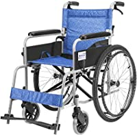 QIDI Rollstuhl Selbstfahrend Stahlrohr Leicht Faltbar Mit Handbremse