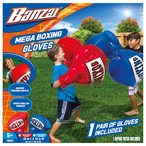 Banzai Kids Inflatable Mega Boxing Gloves - 1 Pair of Gloves Made in USA (Random -