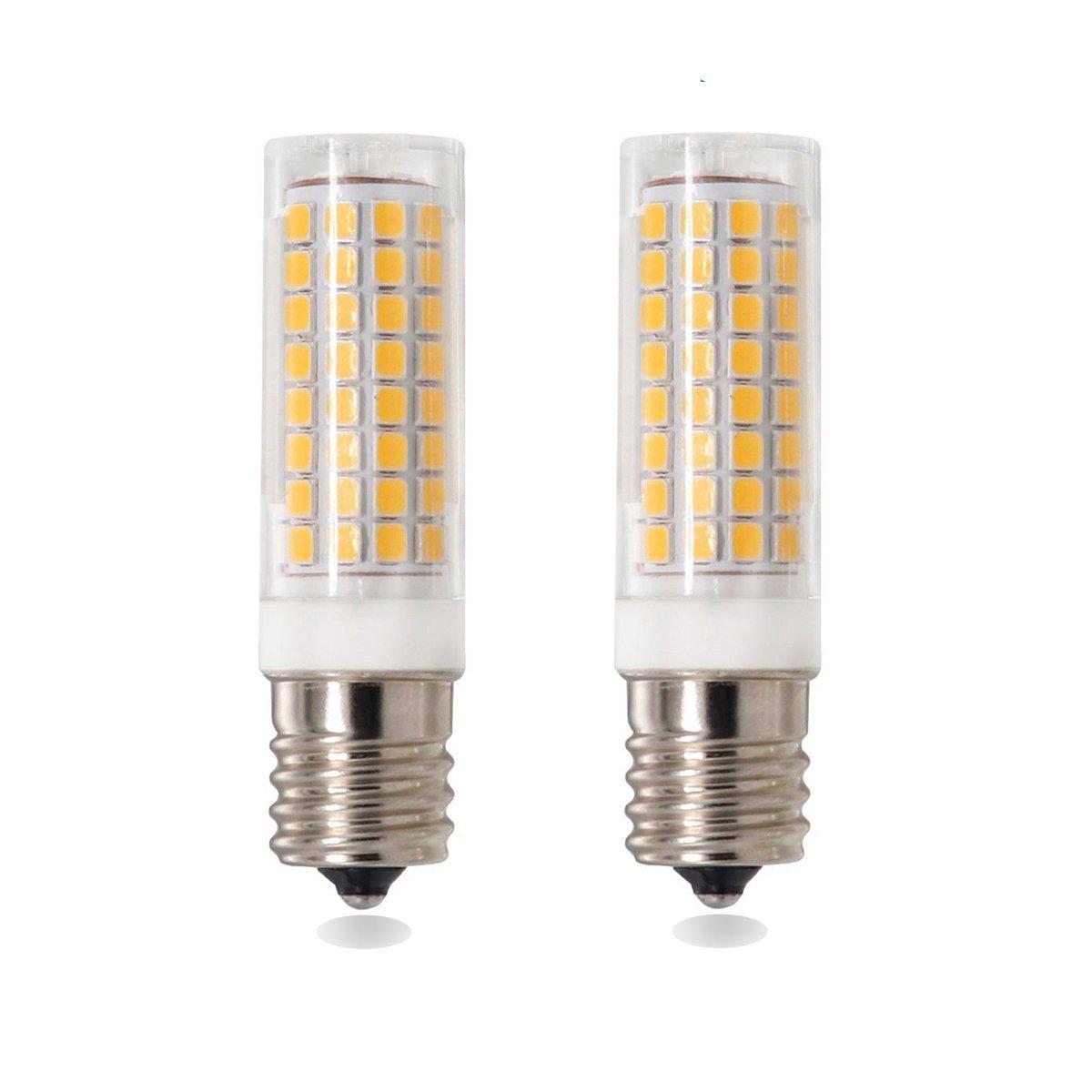 E17 LED Bulb, Intermidate Base, Dimmable E17 LED for Microwave Oven Light, 7Watt Appliance Bulb, 730lm, 75W Halogen Bulbs Equivalent, AC110-120V, 2-Pack (E17-7W-Warm White)
