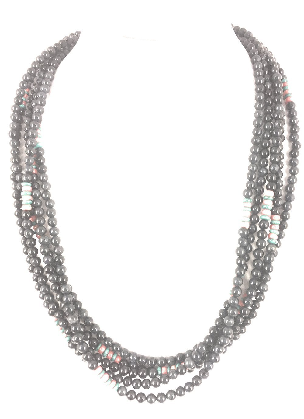 Masha Storewide Sale ! Sterling Silver Necklace By Demodoride, Turquiose, Made in USA - Exclusive Southwestern Handmade Jewelry, 5 Strand Gift
