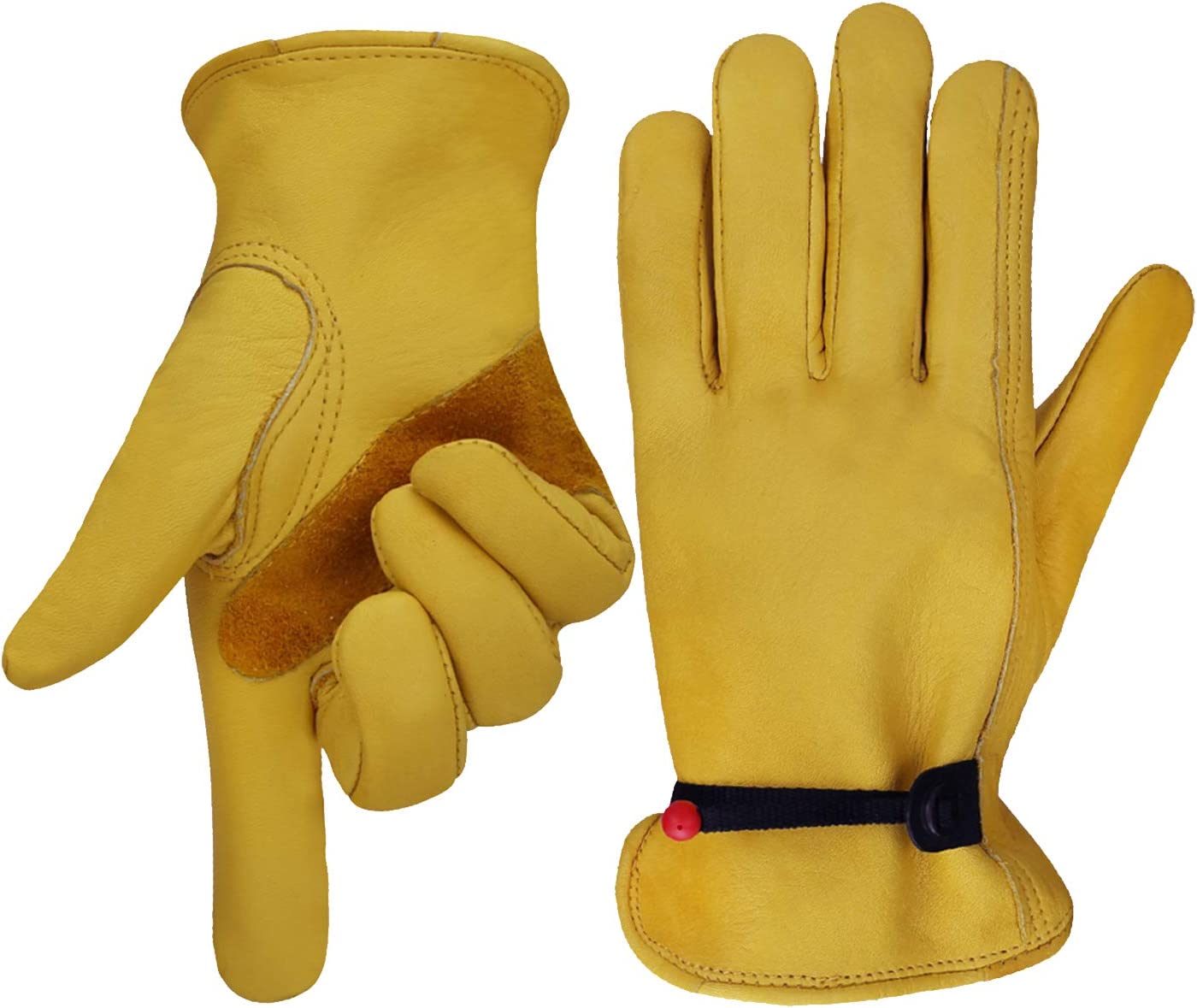 Leather Working Gloves for Gardening,Thornproof Gardening Gloves for Men and Women Medium