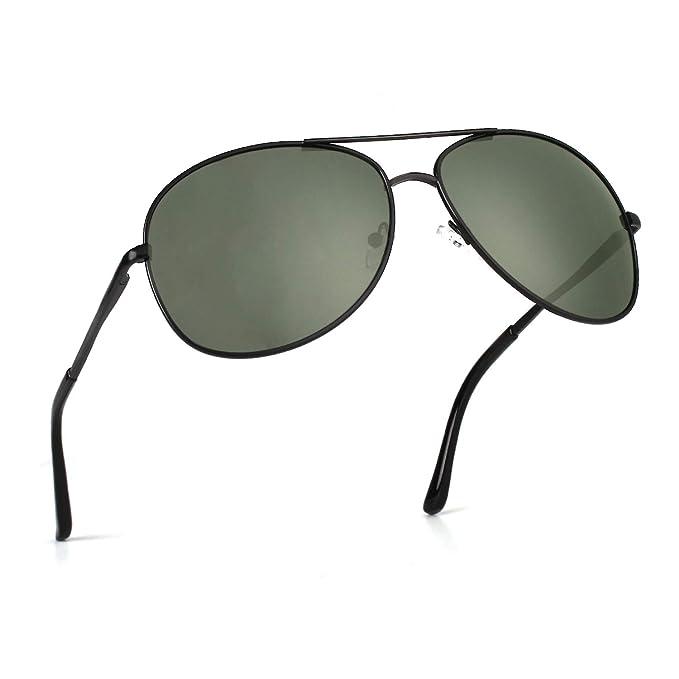 Amazon.com: cgid ga03 Premium Al-Mg aleación Aviator – Gafas ...