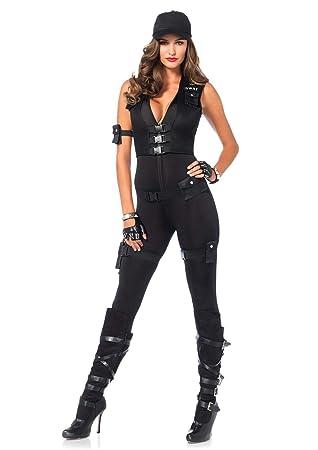 Leg Avenue 85463 - Disfraz de Comandante SWAT Deluxe: Amazon.es ...