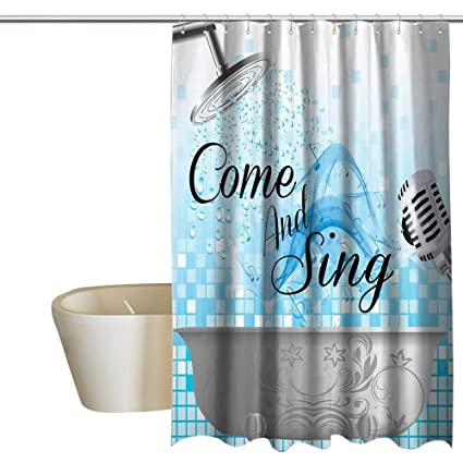 Amazon.com: Funny Sing Funny Shower Curtain Along ...
