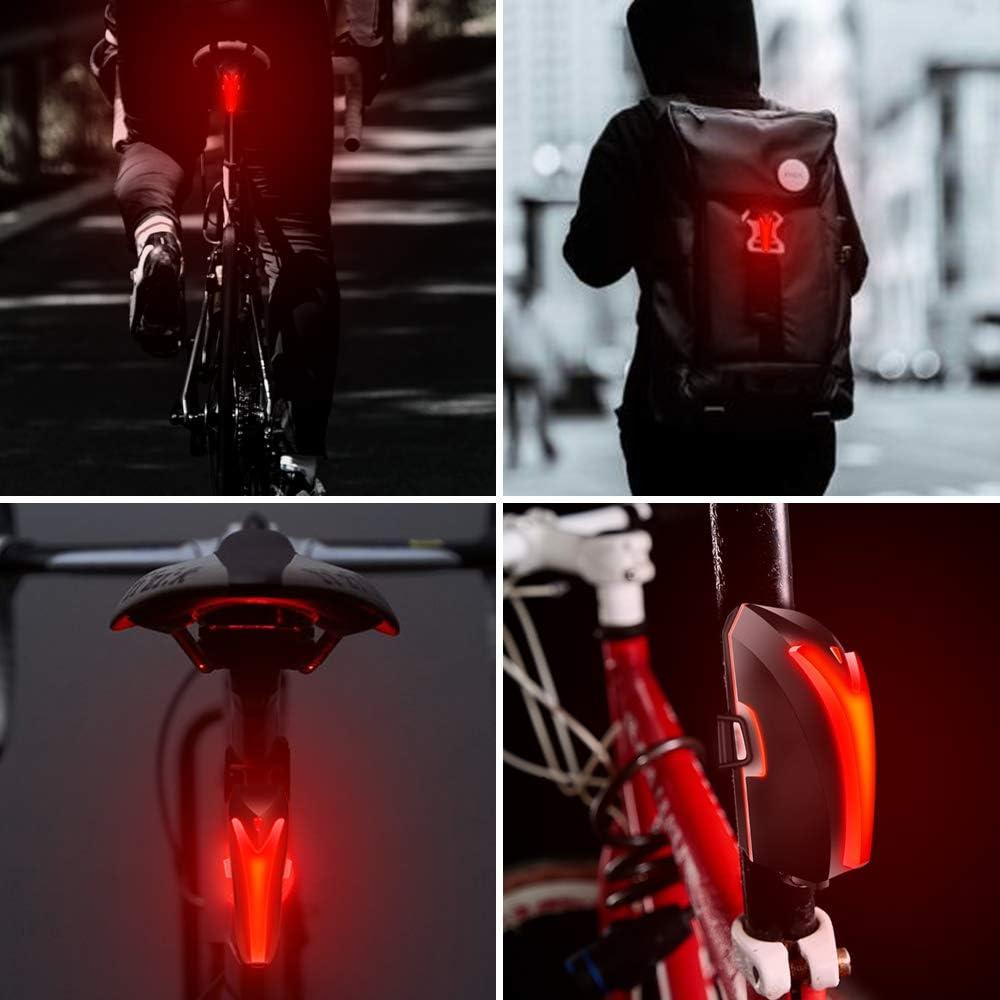 Warnlichter Fahrrad Fahrradlicht Wiederaufladbare Led R/ücklicht Usb Heck Heck Sicherheit Warnung Radfahren Tragbares Blitzlicht Super Bright-Blau