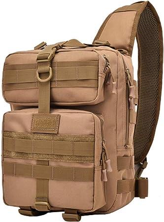 WHSGBB 20L Bolsa De Montañismo Tactical Military Pecho Sling Bag Molle Crossbody Hombro Sling Pack Correa Única Mochila For Practicar Senderismo Al Aire Libre (Color : A, Size : 24×17×35cm): Amazon.es: Hogar