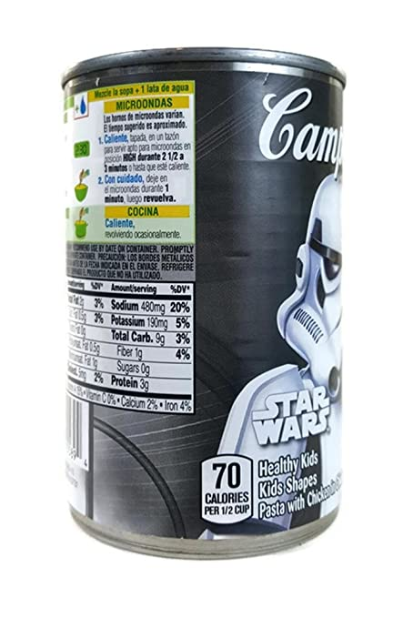 Amazon.com : Campbells Star Wars Stormtrooper Label Fun ...