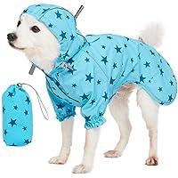 othulp Impermeable Perro Chubasquero Perro Peque/ño Impermeable para Mascotas Cachorro Impermeable Abrigos para Perros medianos Impermeables Blue,2XL