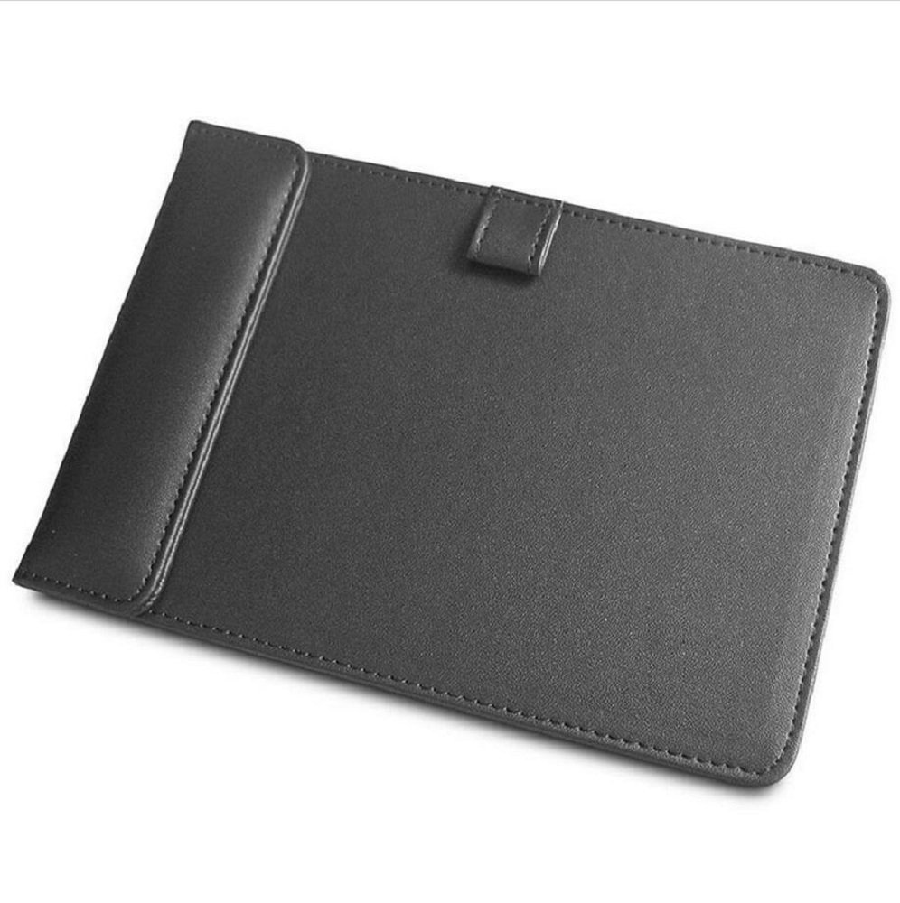Office Wooden Leather Paper File Restaurant Hotel Menu Note Clip Folders A4/A6 Writing Board Drawing Pad (A4, Black) (A4 - Black) Junning