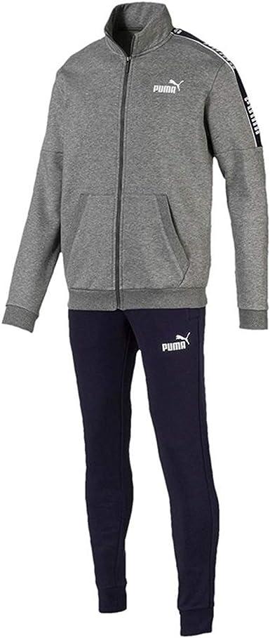 PUMA Amplified Sweat Suit Chándal Gris para Hombre 580489-53