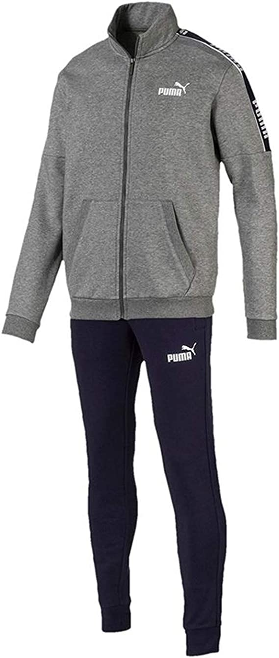 PUMA Amplified Sweat Suit Chándal Gris para Hombre 580489-53