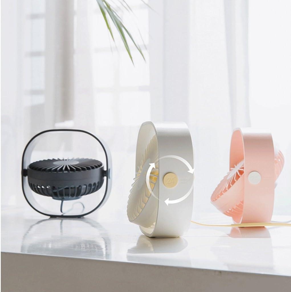 Student Dorm Bed Family Travel Desktop Small Fan Desk Table Fans 360-degree Rotating Fan Mini Office Desktop Mute Wind Fan Color : Pink Portable Cooling Fans USB Desktop Fan