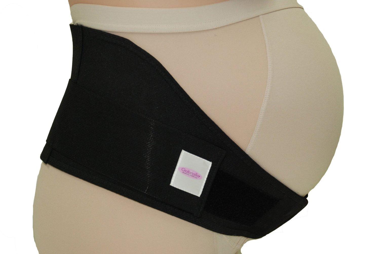 Gabrialla Breathable Maternity Belt Medium Pregnancy Support w/Cotton Lining MS-96(i) Black M