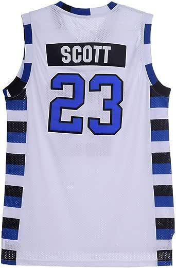 SPPOTY 2017 Mens Scott 23 Ravens Movie Basketball Jersey Stitched White
