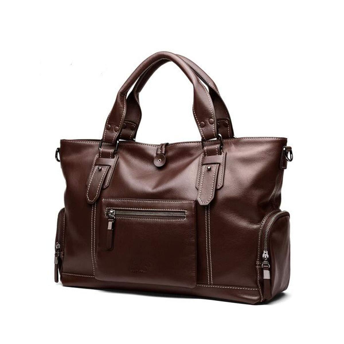 ブリーフケース、メンズビジネスクロスボディハンドバッグ、シンプルファッションメンズコンピュータバッグ、ブラウンサイズ:48 * 14 * 31 cm B07R8C9X6J ブラウン