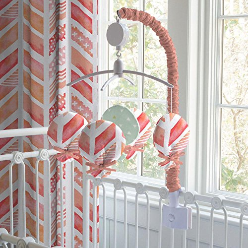 Carousel Designs Coral Watercolor Herringbone Mobile by Carousel Designs