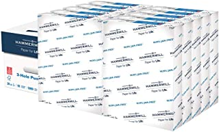 product image for Hammermill Paper, Copy Plus Paper, 8.5 x 11 Paper, Letter Size, 3 Hole, 20lb Paper, 92 Bright, 10 Reams / 5,000 Sheets (105031C) Acid Free Paper, White