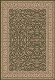148735 - 2'2 x 7'7 Rug Depot Traditional Area Rug - Dynamic Legacy 58004-420 Green - Green Background - Machine Made of 100% Polypropelene Fibers - 800,000 Points - T-6 Quality Rating - Area Rugs with Matching Stair Runners, Hall Runners and Stair Treads