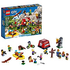 Grow your LEGO City population with this fun 60202PeoplePack – Outdoor Adventures set. Thisadventure playsetfeatures a wide range ofminifigures, including aphotographer figure, and endless possibilities for activities, including a dingh...