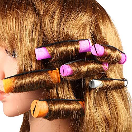 SPTHHPY - Canne permanenti e 100 bigodini per capelli in 5 misure, con aste a onde fredde, per capelli lunghi e corti (5 colori)
