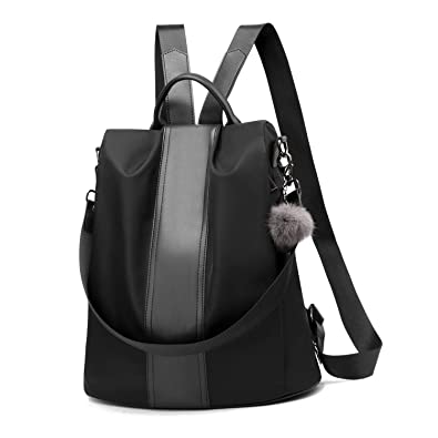 7bdc9ac9bd5 Women Backpack Purse Waterproof Nylon Anti-theft Rucksack Lightweight  School Shoulder Bag