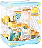 Exploration Land Cage pour hamster nain Taille 36x 27x 42,5cm, bleu