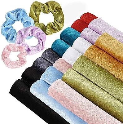 Sntieecr - Juego de 20 piezas de 10 colores de terciopelo para ...