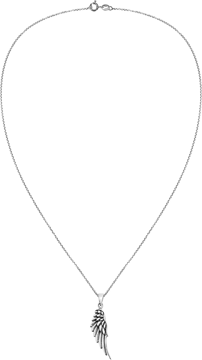 Heavenly Angel Wing .925 Sterling Silver Pendant Necklace