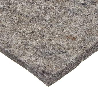 Grade F26 Pressed Wool Felt Sheet, Gray, SAE J314