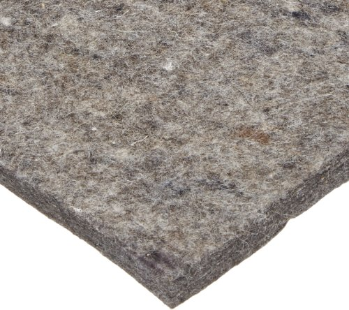 Grade F26 Pressed Wool Felt Sheet, Gray, SAE J314, 1/8'' Thickness, 72'' Width, 120'' Length (Pack of 1) by Small Parts
