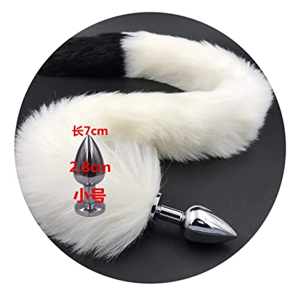 a1b8636c8 Exclusive Style Holidays Choice Long 80Cm White and Black Fox Tail Anal  Plug Sex Toys Erotic