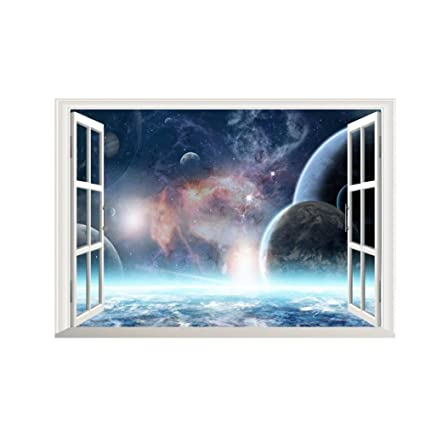 Amazon.com: Home decoration 3D Effect Galaxy Wall Sticker Outer ...