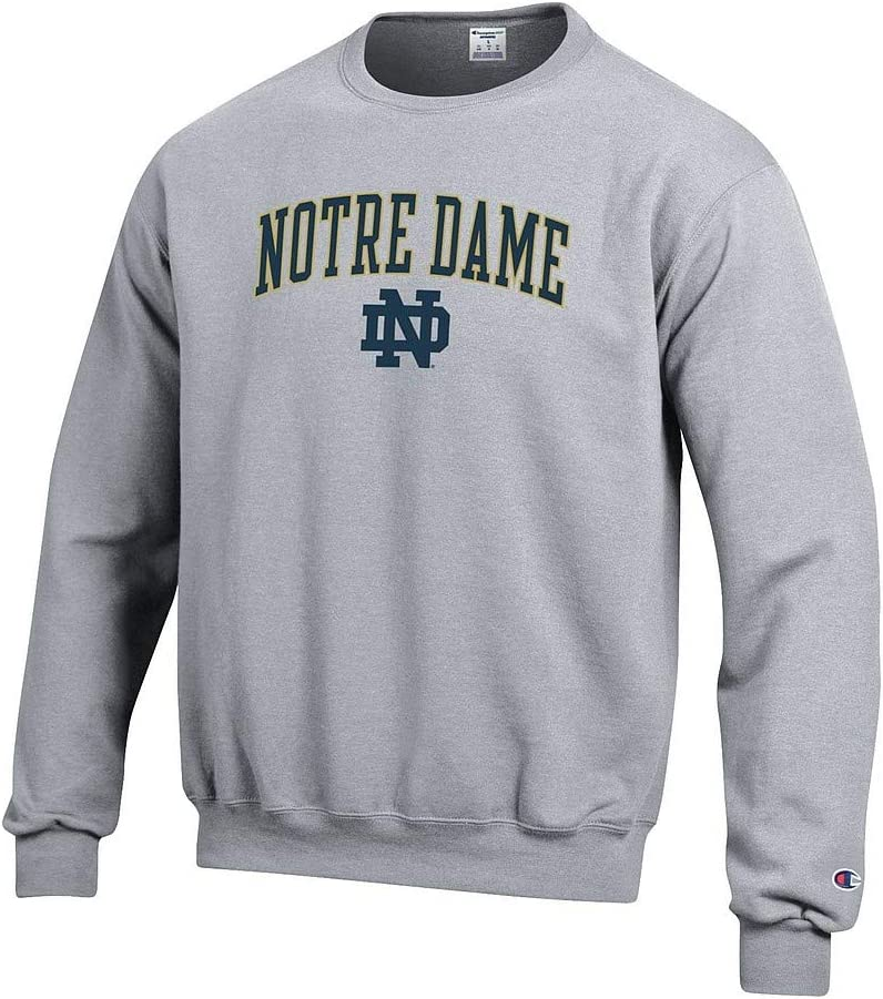 Elite Fan Shop NCAA Mens Crewneck Sweatshirt Oxford Gray