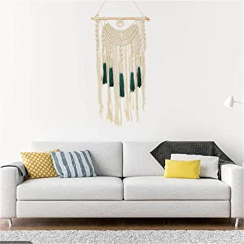 Macrame Murale Decoration Suspension Macrame Tenture Murale 75 X 36