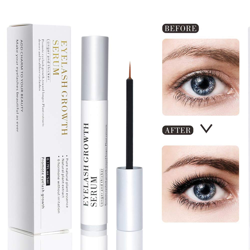 Bestidy Eyelash Growth Serum,Natural Brow Lash Enhancer(5ML),Nourish Damaged Lashes and Boost Rapid Growth for Any Kind of Lash and Brow Thick Looking Lashes and Eyebrows