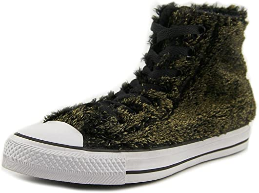 Metallic Faux Fur Women US 7 Sneakers