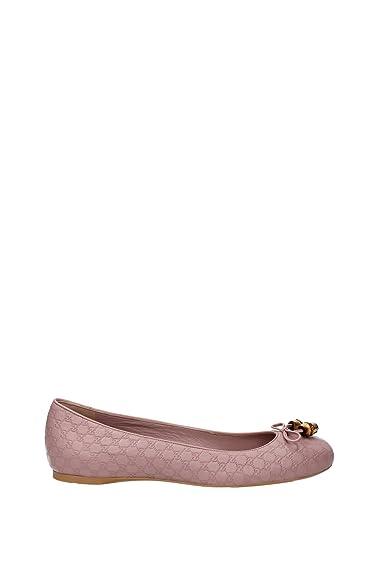 9ed52d0e6f0 Gucci 338863AUX106812 Ballet Flats Women Leather Pink  Amazon.co.uk  Shoes    Bags
