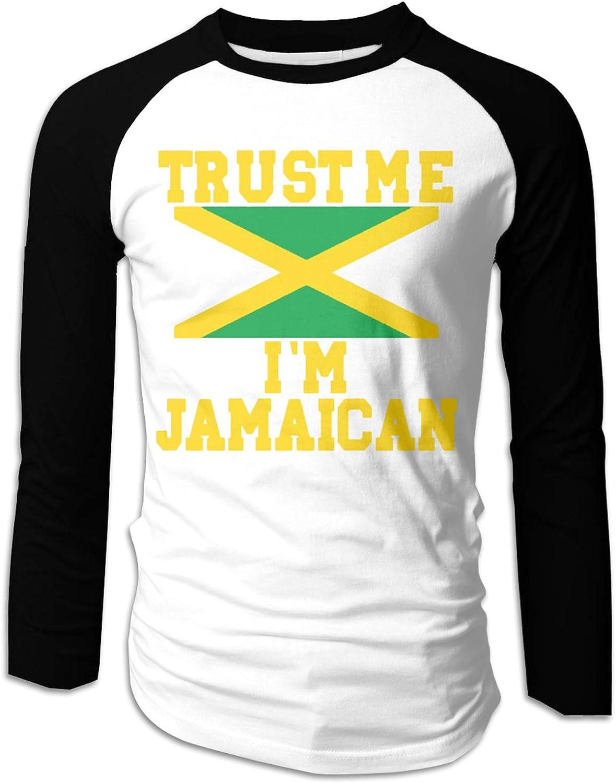 Trust Me Im Jamaican Mens T-Shirt Adulto Manga Larga Slim ...